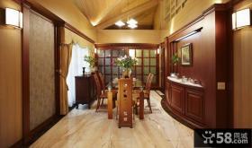 欧式古典别墅室内餐厅装饰效果图