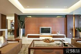 现代中式风格客厅电视背景墙效果图片