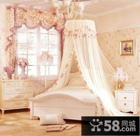 田园女生卧室窗帘装修效果图大全2013图片