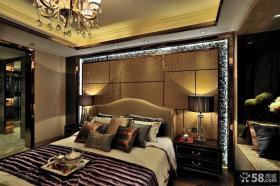 简欧风格时尚卧室床头背景墙图片
