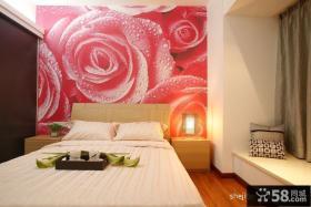 婚房卧室背景墙装修效果图片