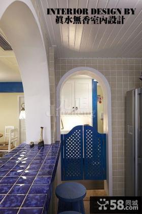 地中海风格吧台装修效果图片欣赏