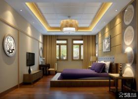 中式榻榻米卧室装修效果图图片