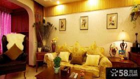 家居客厅沙发背景墙装饰图片画