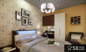 卧室床头照片墙壁纸图片