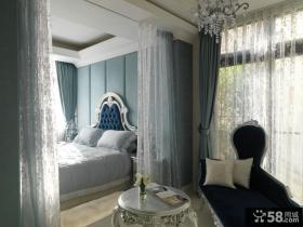 新古典欧式别墅室内卧室设计效果图片