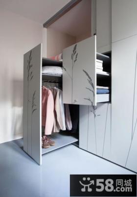 简约设计公寓室内衣柜效果图片