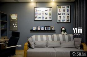 客厅沙发照片背景墙效果图片