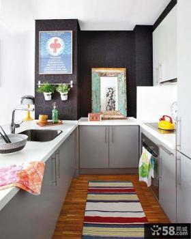 小户型整体厨房装修效果图2013
