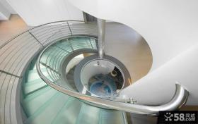 别墅旋转楼梯不锈钢楼梯扶手图片