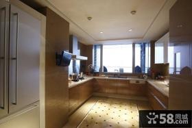 欧式风格U型大厨房装修图片大全
