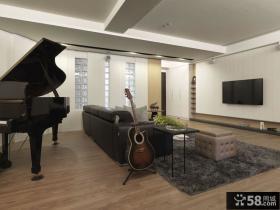 后现代设计120平米三室两厅效果图大全