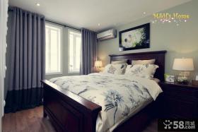 简美式风格一居卧室装修案例