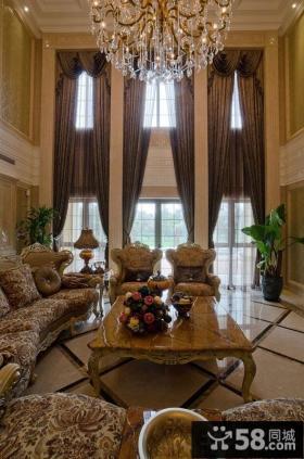 法式风格别墅挑高客厅装修效果图
