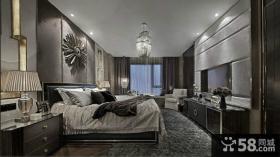 现代风格卧室嵌入式电视背景墙装修效果图大全
