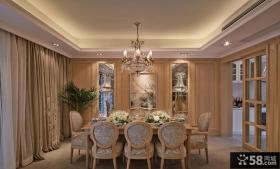 新古典风格别墅室内餐厅计效果图