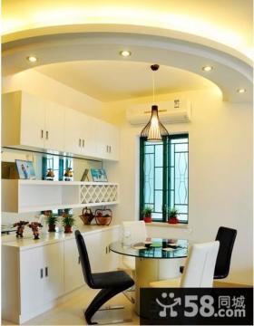 开放式小厨房灯饰设计图片