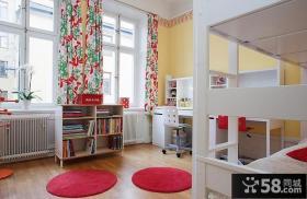 美式简约设计复式儿童房设计图片