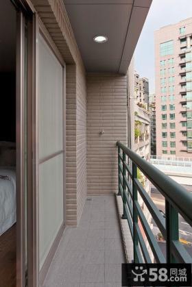 中式风格狭长阳台装修设计图片欣赏