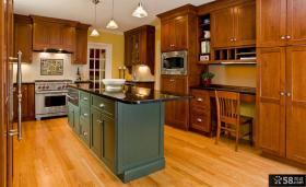 意大利风格一体式大厨房设计图片