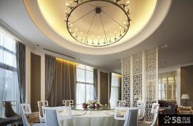 别墅餐厅吊顶造型设计