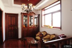 美式复式楼二楼客厅效果图