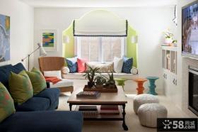 客厅飘窗装修效果图 飘窗设计图欣赏