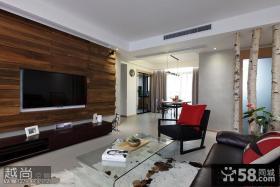 现代创意风格三室两厅客厅电视背景墙设计