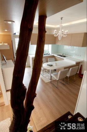 简约家居室内餐厅厨房吊顶设计