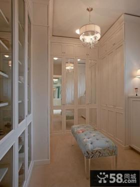 欧式风格衣柜穿衣镜效果图片