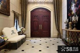 欧式美式家装进门玄关图片欣赏
