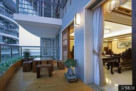 现代中式家居阳台设计