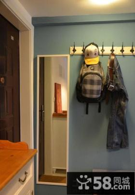 进门玄关衣帽架装饰效果图片