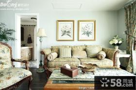 优质田园风格客厅装修图片
