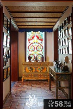别墅进门玄关柜装饰效果图片