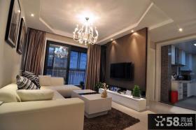 简约设计客厅电视背景墙图