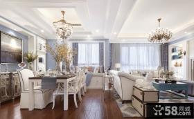 美式简约风格餐厅室内设计效果图