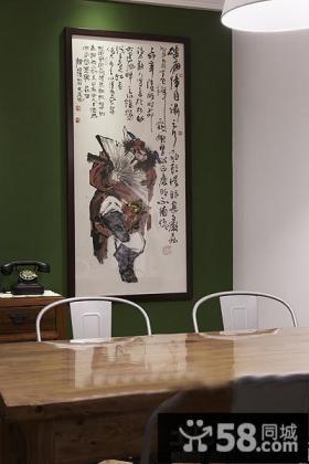 中式餐厅装饰画图片