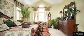 美式田园风格别墅卧室装修图片
