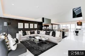 白领复式客厅设计效果图