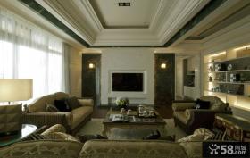 现代欧式家庭客厅装修效果图
