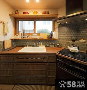 美式实木家庭橱柜效果图
