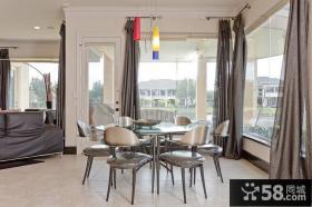餐厅窗帘设计