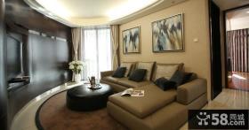 现代风格客厅设计实景图