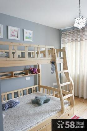 田园风格儿童房室内设计效果图