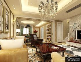 别墅二楼客厅吊顶造型装修效果图