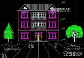 简单三层别墅外立面效果图