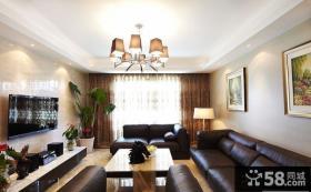 现代家装客厅吊顶效果图大全2013图片