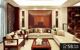 新中式风格客厅家具摆放效果图大全