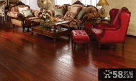美式风格客厅实木地板贴图